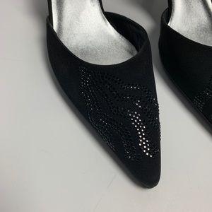Stuart Weitzman Shoes - Stuart Weitzman Black Slingback Heels Sz 7
